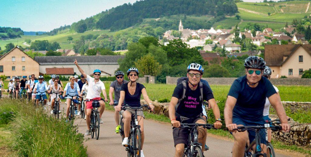 Ballade vélo en groupe